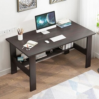 "Latitude Run Geert Home Desktop Computer Desk Bedroom Laptop Study Table Office Desk Workstation Color: Espresso, Size: 28.3"" H x 39.4"" W x 23.6"" D"