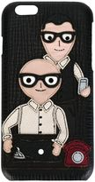 Dolce & Gabbana Designers patch iPhone 6 case - men - Leather - One Size