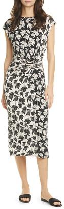 Joie Zuzanna Floral Print Twist Midi Dress