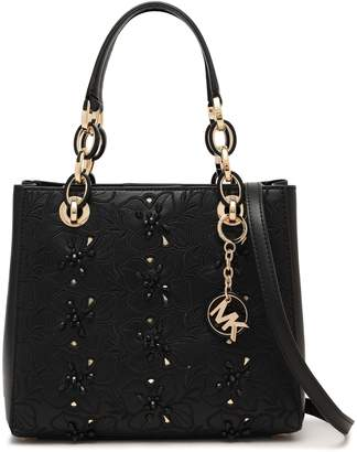 MICHAEL Michael Kors Crystal-embellished Embroidered Leather Tote