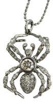 Diamond Spider Necklace