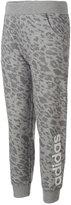 adidas Printed 7/8-Length Cotton Jogger Pants, Toddler & Little Girls (2T-6X)