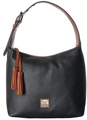 Dooney & Bourke Pebble Paige Sac (Black/Tan Trim) Handbags