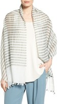 Eileen Fisher Women's Woven Stripe Wrap