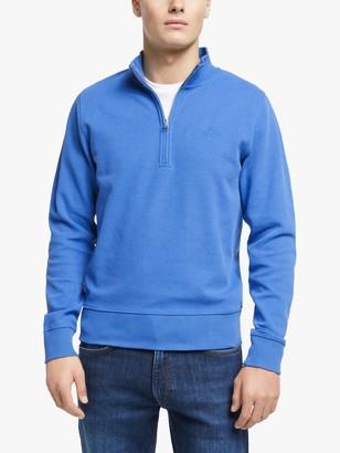 Gant Half Zip Knit Jumper, Blue