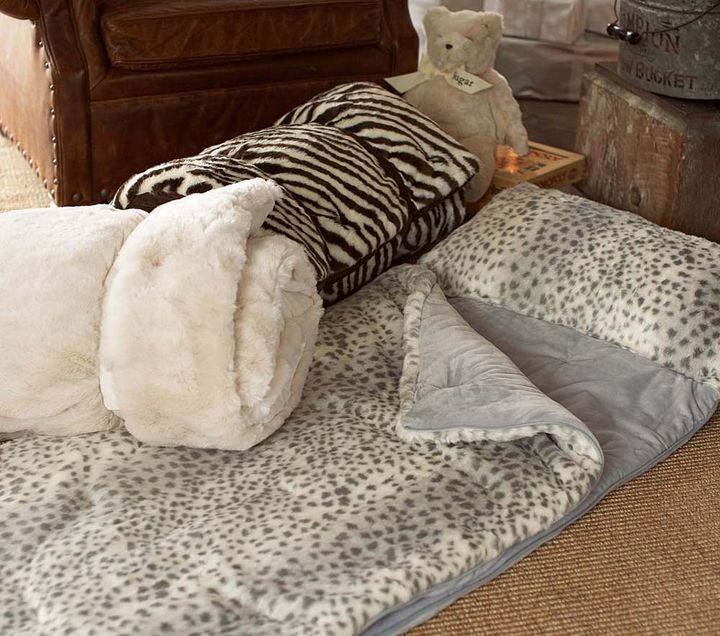 Pottery Barn Kids Animal Print Sleeping Bags
