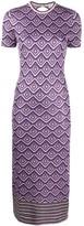 Paco Rabanne patterned metallic-knit dress