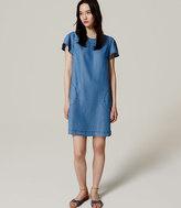 LOFT Petite Chambray Flutter Dress