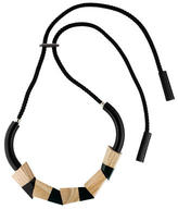 Marni Wood & Resin Necklace