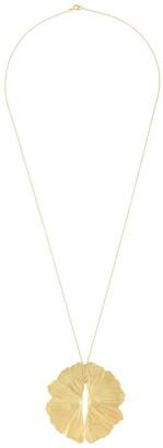 Lara Melchior Leaf Pendant Necklace