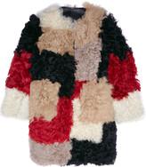 Marni Color-block shearling coat