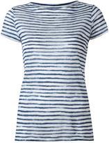Majestic Filatures striped shortsleeved T-shirt - women - Linen/Flax - I
