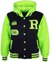 a2z4kids Kids Girls Boys R Fashion NYC FOX Baseball Hooded Jacket Varsity Hoodie 2-13 Yrs