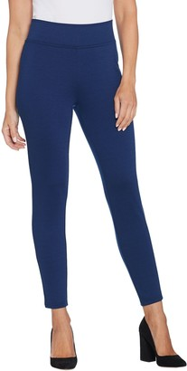 BROOKE SHIELDS Timeless Petite High- Waisted Pull-On Ponte Leggings