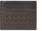 Bottega Veneta Two-tone Intrecciato Leather Cardholder - Brown