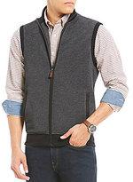 Daniel Cremieux Solid Pique Full-Zip Fleece Vest
