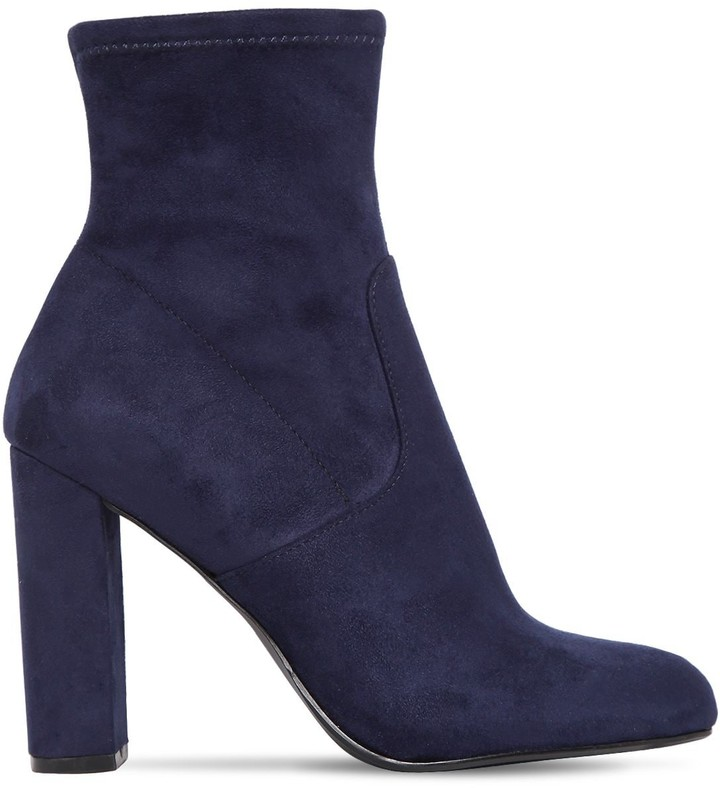 a11150a1673 100MM EDITT STRETCH FAUX SUEDE BOOTS