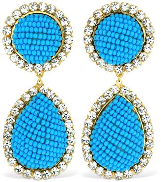 Shourouk Bananitas Blue Earrings
