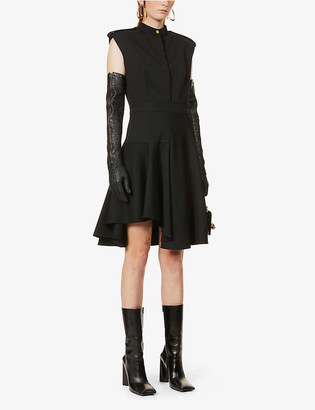 Alexander McQueen Military sleeveless wool midi dress