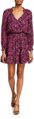 Parker Parma Mosaic Print Silk Jersey Dress