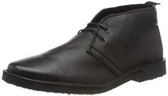 Jack and Jones Men's Jfwgobi Leather Black Desert Boots