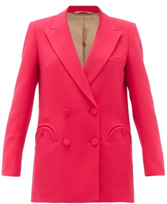 BLAZÉ MILANO Cool & Easy Double-breasted Wool-crepe Blazer - Womens - Pink