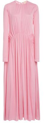 Roksanda Nalia Ruched Crepe Maxi Dress