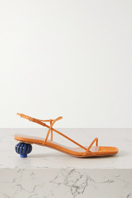 Jacquemus Manosque Two-tone Suede Sandals - Orange