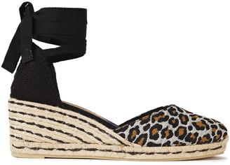 Castaner Carina 70 Cotton-blend Leopard-jacquard Wedge Espadrilles