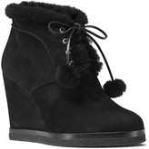 Michael Kors Chadwick Suede and Shearling Wedge Booties