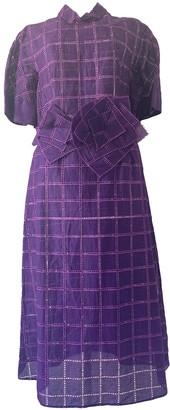 DELPOZO Purple Cotton Dresses