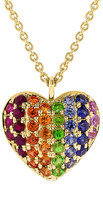 Sabrina Designs 14K 0.49 Ct. Tw. Sapphire Heart Necklace