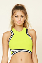 Forever 21 FOREVER 21+ Stripe Trim Padded Top