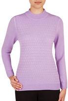 Allison Daley Plus Honeycomb Knit Sweater