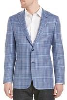 Hickey Freeman Brighton Weight Wool, Silk, & Linen-blend Sportcoat.