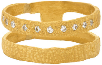 ELHANATI Gold Graphic Nude Lux One Ring