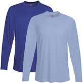 Hanes Men's Two Pack of Long-Sleeve Cool Dri T-Shirts