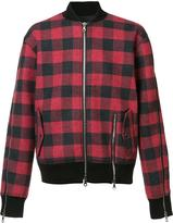Mostly Heard Rarely Seen plaid bomber jacket - men - Cotton/Nylon - XXL