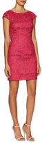 Aidan Mattox Lace Cap Sleeve Sheath Dress