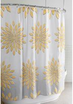 Bed Bath & Beyond Extra-Wide Medina Floral Shower Curtain in White/Yellow