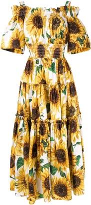 Dolce & Gabbana Sunflower Print Long Dress
