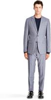 DKNY Check Slim Fit Trouser Suit
