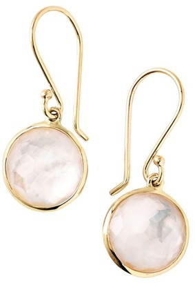 Ippolita Lollipop 18K Yellow Gold & Mother-Of-Pearl Doublet Mini Drop Earrings