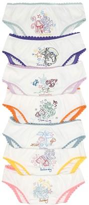 Stella McCartney Set of seven cotton underwear