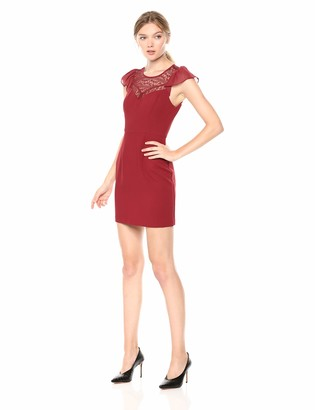 BCBGeneration Women's Flirty Sleeve FIT & Flare Dress