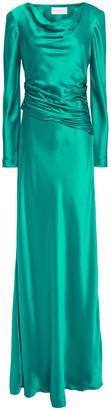 Alberta Ferretti Ruched Satin-crepe Gown