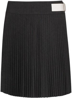 Helmut Lang High-Waisted Mini Kilt Skirt