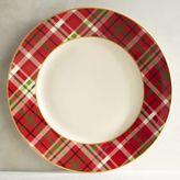 Pier 1 Imports Haddington Plaid Porcelain Dinner Plate