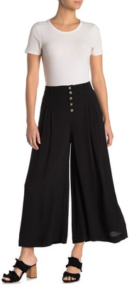 GOOD LUCK GEM Wide Leg Button Front Palazzo Pants