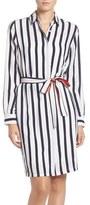 Eliza J Stripe Shirtdress